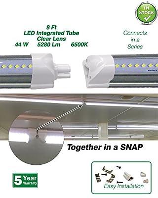Beyond LED 102343P44L52806500K LED Integrated Tube, 8', 44W, 5280 Lumens, 6500K ETL