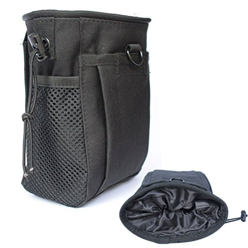 Tactical Molle drawstring Magazine Dump Pouch, Military Adjustable Belt Utility fanny hip holster Bag Outdoor Ammo Pouch