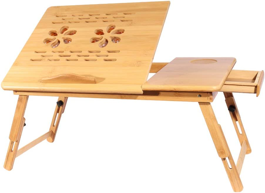 Innotic Lap Desk for Laptop Bed Table with Eco-Friendly Bamboo Radiator with Fan, Tray Lap Desks for Adults and Kids,Multifunction Computer Desk Floor Table Bed Desk.