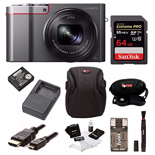 Panasonic Lumix DMC-ZS100 Digital Camera Bundles (Battery & Charger Travel Bundle, Silver)