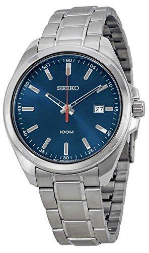 Seiko Three-Hand Silver-Tone Stainless Steel Men's watch #SUR059