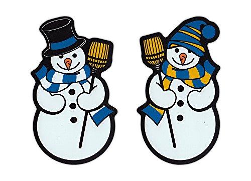 Magnetic Bumper Sticker - Cute Snowman Magnets (Snowmen, Snow Man, Men) - Set of 2 Magnets - 4.5