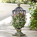 BrylaneHome Floral Topiary Finial Basket (Multi,0)