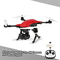 Goolsky SIMTOO Dragonfly 16MP Camera 4K Brushless Wifi FPV Quadcopter 3-Axis Gimbal Professional Aerial Photography GPS Drone RTF
