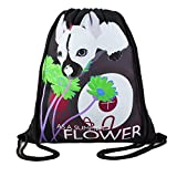 ArmoFit Drawstring Backpack Bag with Pocket Waterproof Cinch Sack Sport Gym Bag for Kids Girl Women School Party Travel Beach