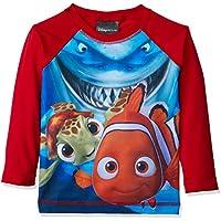 Camiseta Manga Longa Praia Procurando Nemo, TipTop, Vermelho
