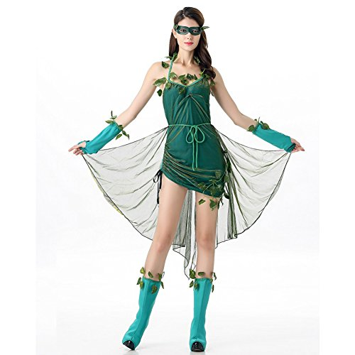 Costour Halloween Role-playing Green Wizard Tree Demon (Green Demon Costume)
