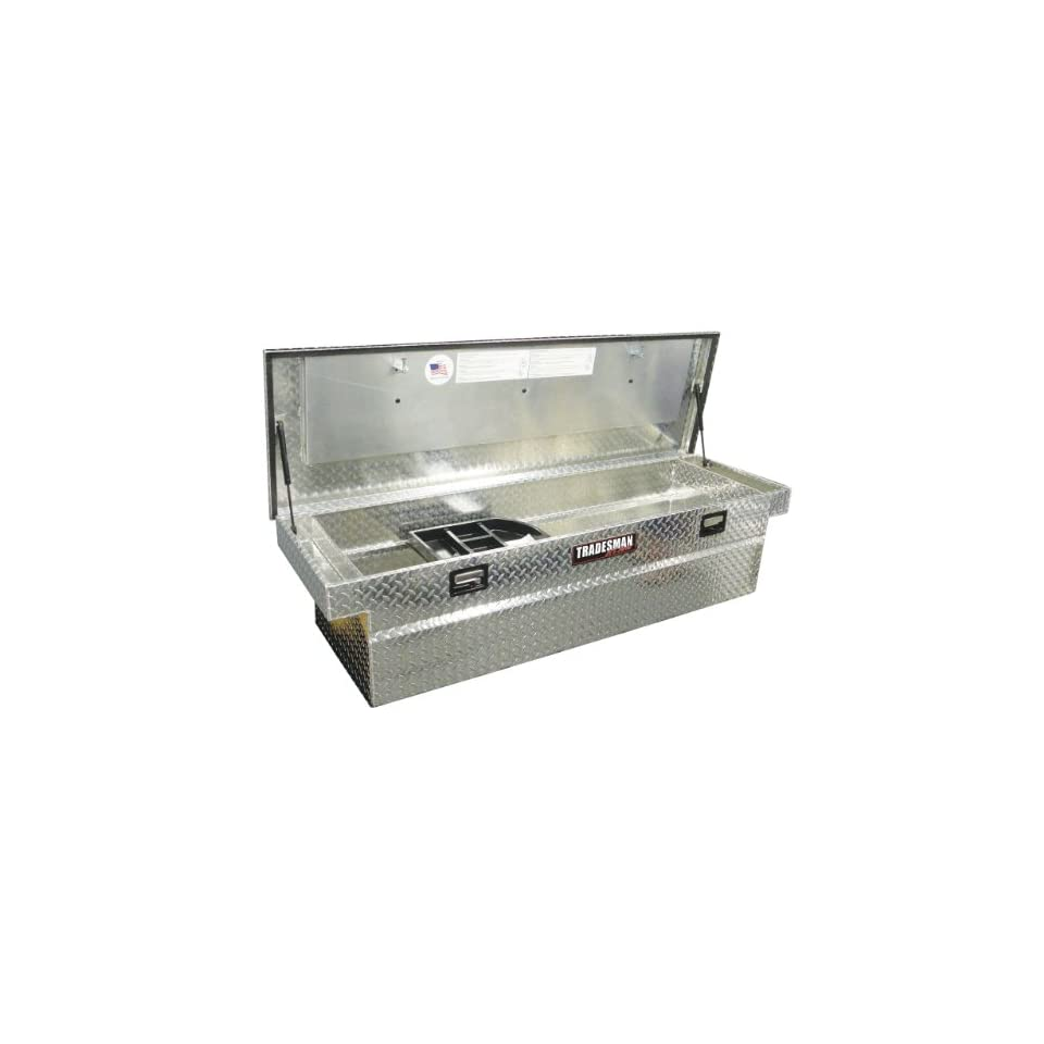 Lund/Tradesman 5400T 70 Inch Full Size Aluminum Cross Bed Truck Tool Box with Single Foam Filled Lid