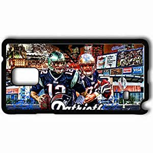 Personalized Samsung Note 4 Cell phone Case/Cover Skin 14413 new england patriots 1 sm Black
