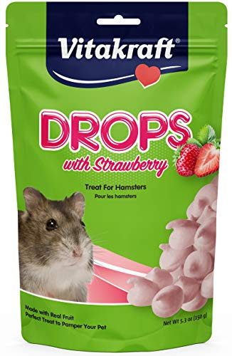 Vitakraft Hamster Strawberry Drops Treat, 5.3 Ounce -