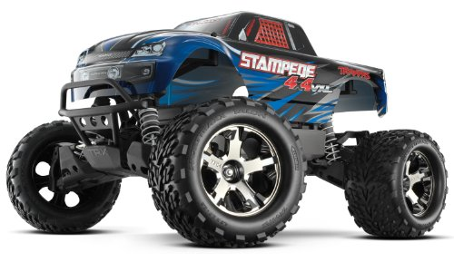 (Traxxas 67086-4 Stampede 4X4 1/10 Monster Truck with TQi 2.4GHz Radio/TSM, Blue)