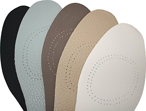 Shoeslulu Handcrafted Thin Cushioning Premium Leather Insoles with Activated Carbon Odor Control (US Women 6-6.5/ EU 37, Assorted (Pack of 2))