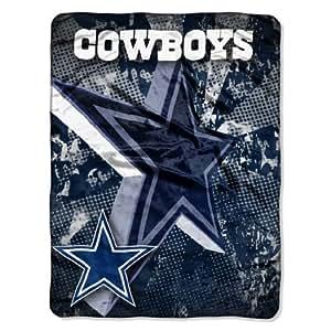 NFL Dallas Cowboys 46-Inch-by-60-Inch Micro-Raschel Blanket, Grunge Design