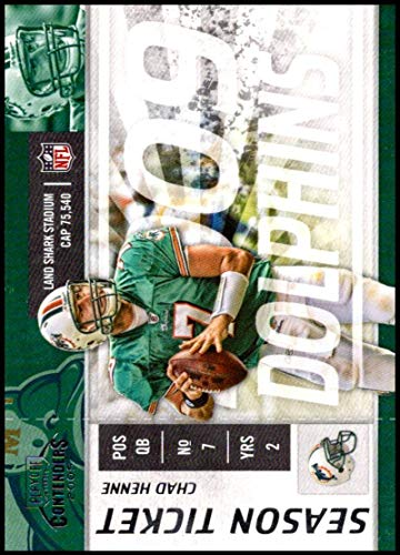 2009 Playoff Contenders Season Tickets #52 Chad Henne NM-MT Miami Dolphins Official NFL Football Card