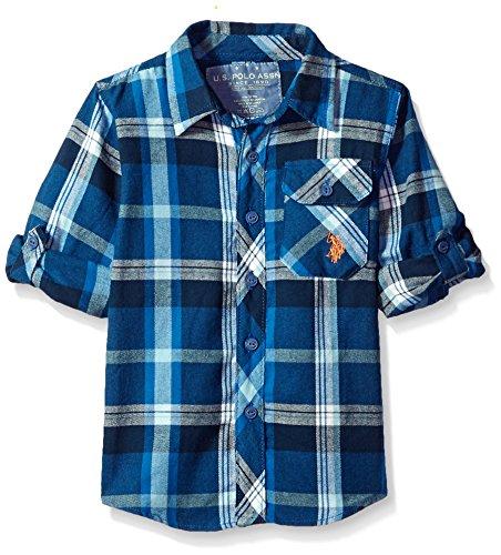 U.S. Polo Assn. Boys Long Sleeve Plaid Flannel Shirt