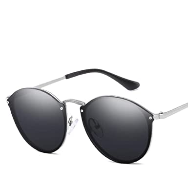 b47d98627ebc Image Unavailable. Image not available for. Color: 2019 Luxury Round Sunglasses  Women Brand Designer CatEye ...