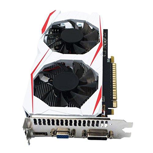 YIYEZI GTX 750Ti 2GB GDDR5 192bit VGA DVI HDMI Graphics Card With Fan For NVIDIA GeForce (White) by YIYEZI (Image #3)'