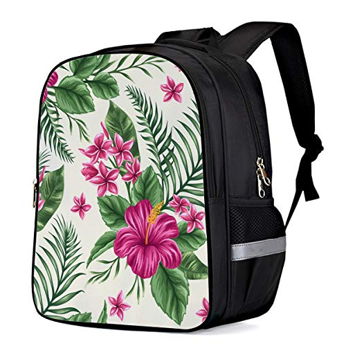 Backpack for Children/Boys/Girls Exotica Flower Bouquet 3D Printing Shool Book Bag Daypacks Satchel Rucksack Hiking Travel Shoulders Bag Fits Laptop- Large ()