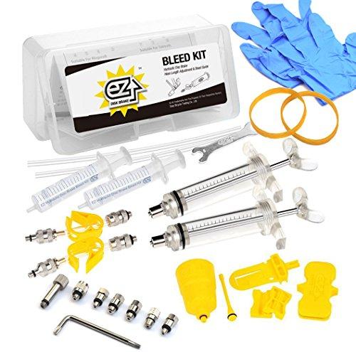 Mountain Bike Hydraulic Disc Brake DOT AND Mineral Oil Bleed Kit for AVID Formula Hanyes ECHO Shimano Tekro HS33 Magura NUTT (Mountain Bike Bleed Kit)