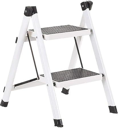 Dormitorio escalera hogar plegable escalera taburete cocina escalones escaleras multifuncional hierro forjado plegable pequeña escalera colgante dos pisos escaleras taburete escalera de dos pasos (col: Amazon.es: Hogar