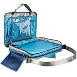 Kids Travel Tray for Car Seat: Detachable 4 in 1 Lap Desk, Organizer, Tablet Holder and Carry Bag (Sapphire Blue)