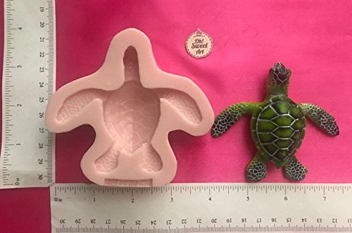 SEA TURTLE, WATER TURTLE I,(MEASUREMENTS SECOND PICTURE) animal, Silicone Mold By Oh! Sweet Art FDA Approved for Food, Cupcakes by Oh! Sweet Art