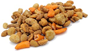 Oregon Farm Fresh Snacks Blazing Trail Sweet & Spicy Mix - Assortment of Tasty Nuts and Crunchy Crackers - Healthy and Satisfying Snack - Great Munchies for Game Night, Hiking, Beer Pub - 16oz Pouch