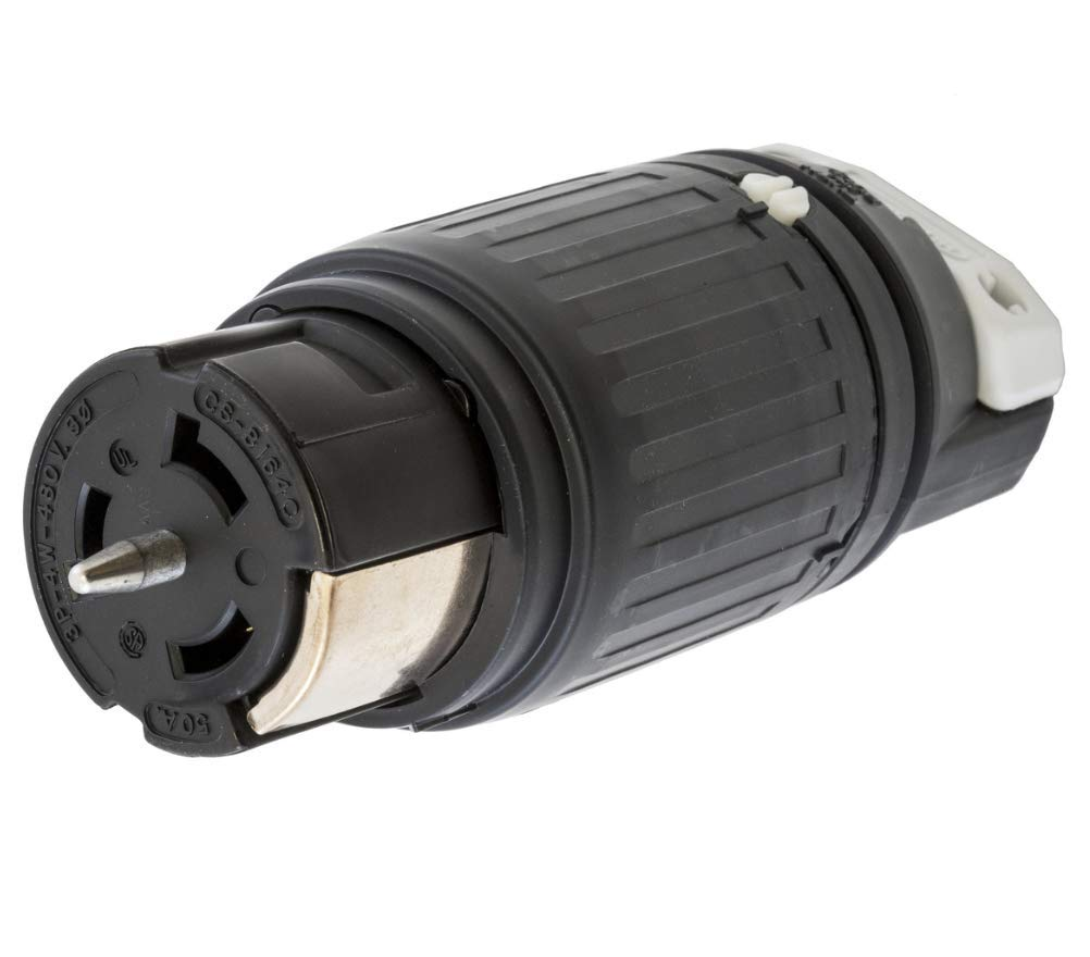 Hubbell CS8164C Locking Connector, 50 amp, 480V, 3 Pole and 4 Wire