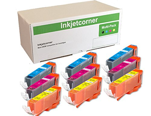 Inkjetcorner 9 Pack Color (3 Cyan, 3 Magenta, 3 Yellow) Compatible Ink Cartridges for CLI-271XL CLI-271 for Series MG5720 MG6820 MG7720 TS6020 TS5020 TS8020 TS9020 by Inkjetcorner