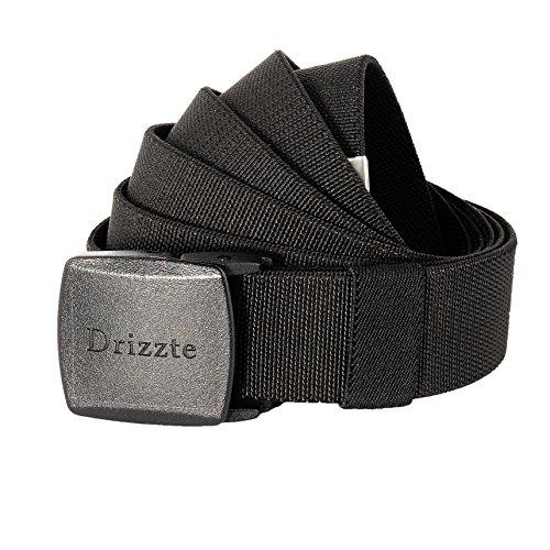 Drizzte 59'' Plus Size Elastic Stretch Adjustable Dress Belt Plastic Buckle (Large Mens Belts)