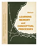Learning Memory and Conceptual Processes, Kintsch, 0471480703