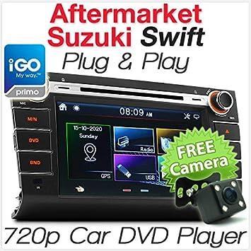 Suzuki Swift - Reproductor de DVD GPS y Reproductor de GPS de 8 Pulgadas, Unidad de Radio para Coche, Sistema estéreo, MP3: Amazon.es: Electrónica