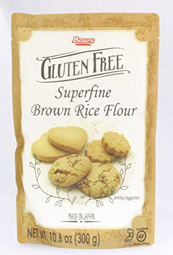 Kumamoto Flour Milling Gluten Free Superfine Brown Rice Flour, 10.6 Ounce