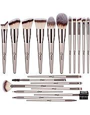 BESTOPE Makeup Brush Set 20 Pcs Premium Makeup Brushes Professional Soft Synthetic Fibers Brush Set, Face Make Up Brushes Kit for Foundation Blending Powder Blush Concealer Eyeshadow Lip (Champagne Gold)