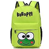 YOURNELO Kid's Cartoon Animation Rucksack School Backpack Bookbag for boys girls (Green Keroppi)
