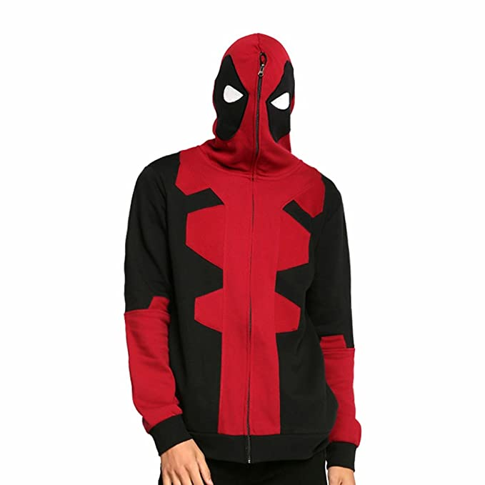 Rulercosplay Deadpool Cosplay sudadera con capucha Rojo ...