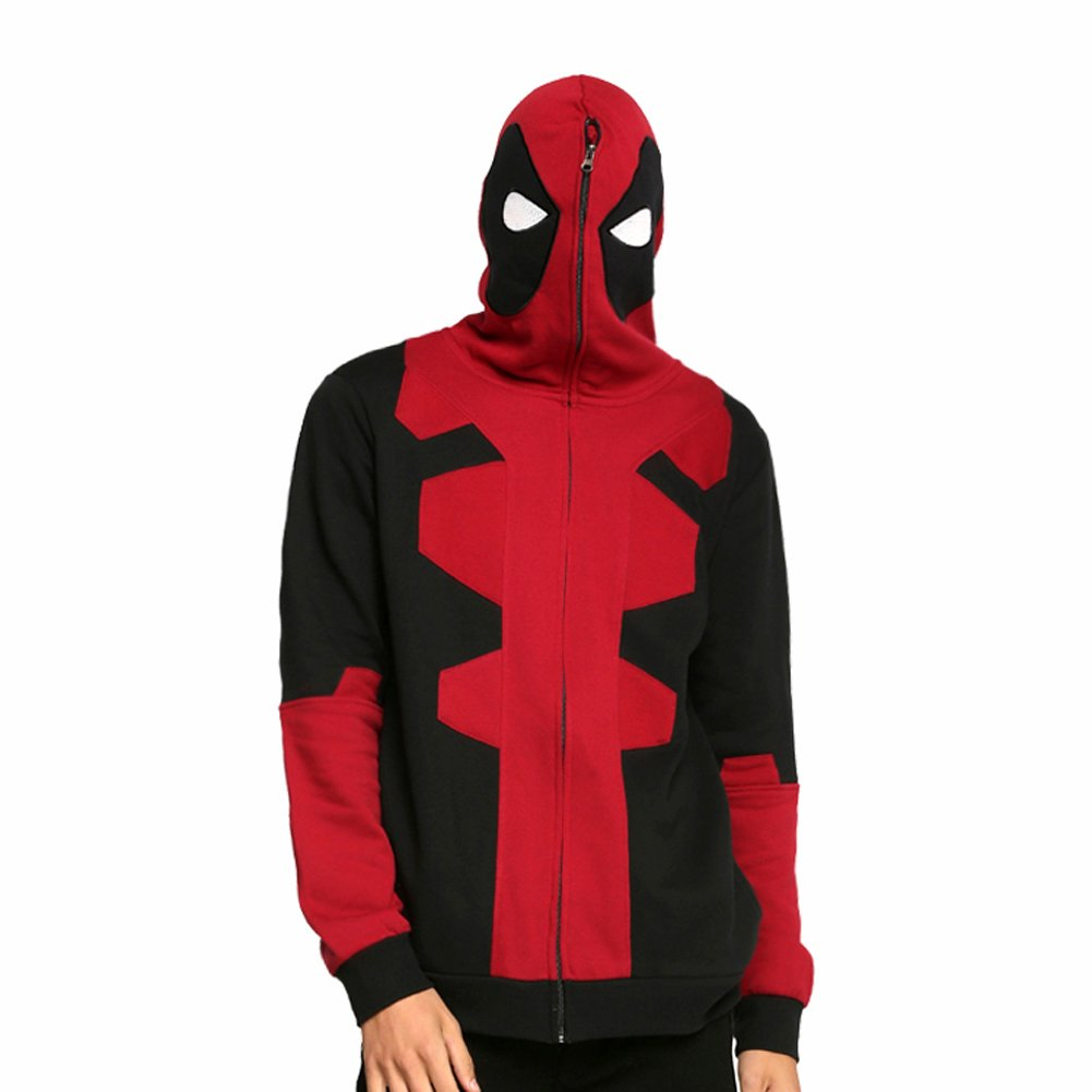 Deadpool Hooded Cosplay Costume - Red