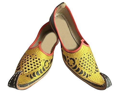 Stap N Stijl Aladdin Heren Schoenen Khussa Indian Handgemaakte Lederen Slippers Khussa Juti