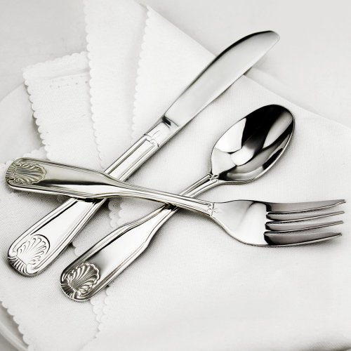 New Star Foodservice 58246 Shell Pattern, Stainless Steel, Dinner Knife, 8.6-inch, Set of 12 by New Star Foodservice (Image #2)