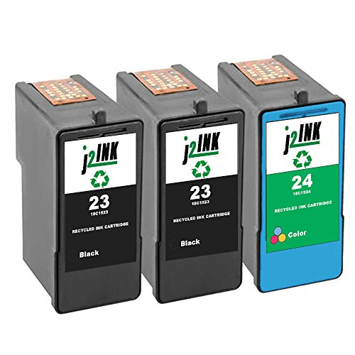 (J2INK 3 Pack Remanufactured Ink Cartridge for Lexmark 23 18C1523 Lexmark 24 18C1524 High Yield)