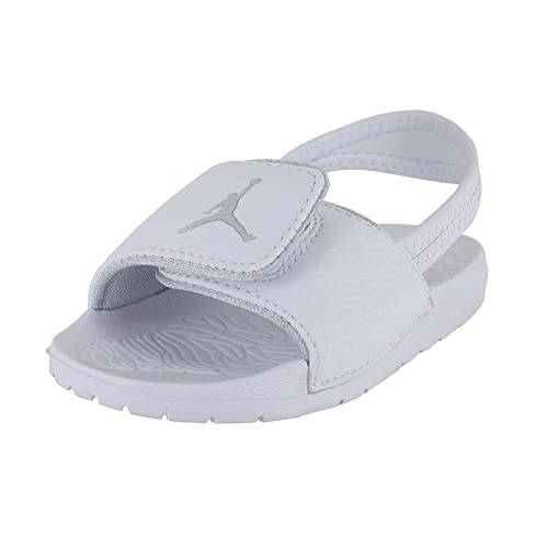 f3bdd2979b31 JORDAN TODDLER JORDAN HYDRO 6 BT WHITE PURE PLATINUM SIZE 9  Amazon.in   Shoes   Handbags