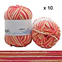 かぎ針編み/編みセーター、スカーフ、20パック用ソフトミルクコットンベイビー糸 B