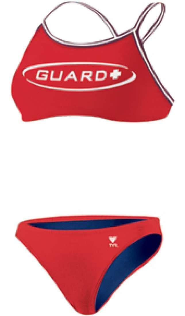 TYR Guard ダイマックスバック ワークアウトビキニ B003DV8U4G Small|レッド