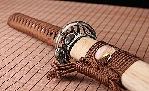 Handmade Katana Japanese Damascus Folded Steel Blade Real Clay Tempered Hamon Full Tang Sword