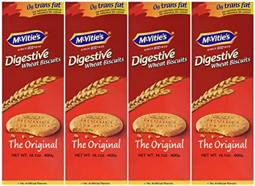 McVitie's Digestive Biscuits - 400g (14.1 Oz) 4 Pack