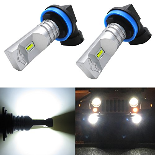 Alla Lighting High Power CSP SMD H11 H8 Extremely Super Bright 6000K Xenon White LED Lights Bulbs Best for Replacing Fog Light Lamps (2009 Malibu Fog Lights compare prices)