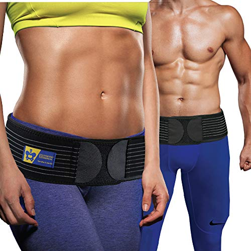 Belt - Sacroiliac Joint Belt for Men and Women I Hip Support Brace - Support and Alleviate Si Joint, Pelvis, Sacral, Sacrum, Hip and Sciatica Pain and Discomfort - Large/XL/XXL ()