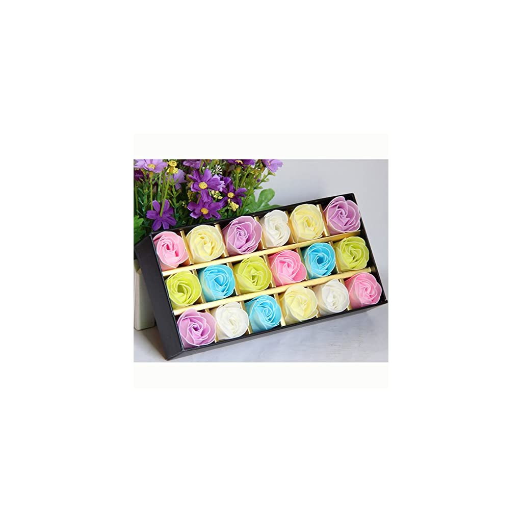 18pcsbox-Soap-Flower-Artificial-Flower-Scented-Bath-Soap-Rose-Flower-Petals-in-Gift-Box-With-Litter-Bear