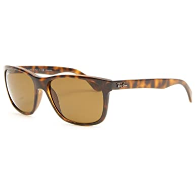 Ray-Ban RB4181 Highstreet Polarized Designer Sunglasses - Light Havana/Brown / One Size