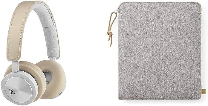 Bang & Olufsen Beoplay H8i - Auriculares supraurales inalámbricos Bluetooth, con cancelación de ruido activa (ANC), modo de transparencia y micrófono, Beige + Funda de tela, color gris: Amazon.es: Electrónica